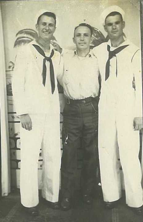 Dad with Uncle Ed and a buddy in Florida, 1942