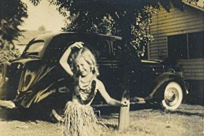 Me in grass skirt, c. 1943-44