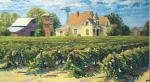 """Paul Buxman, """"Drying the Raisins."""" Oil on Canvas 1990"""