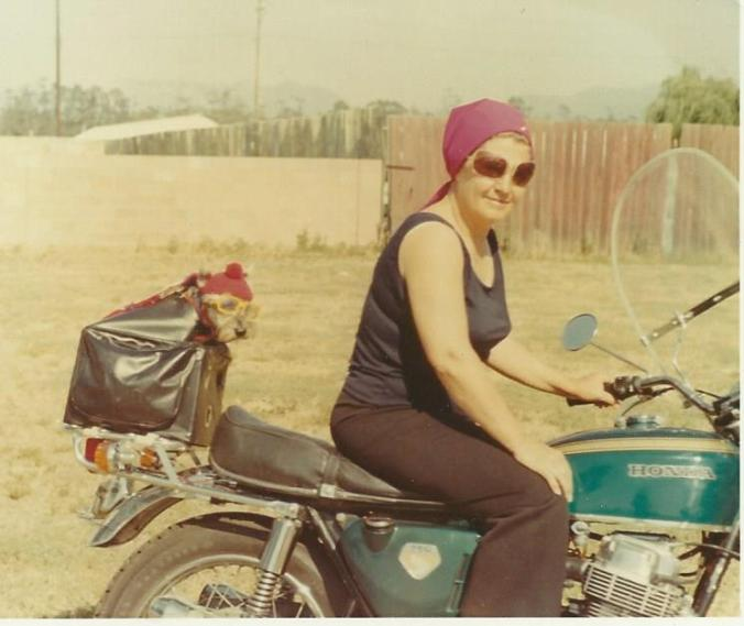 mom on motorcycle